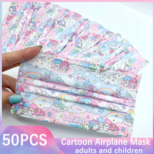 Covering-Mask Mascaras Mouth-Face-Masks Anime Pink Japanese Cute Disposable Adult Girl