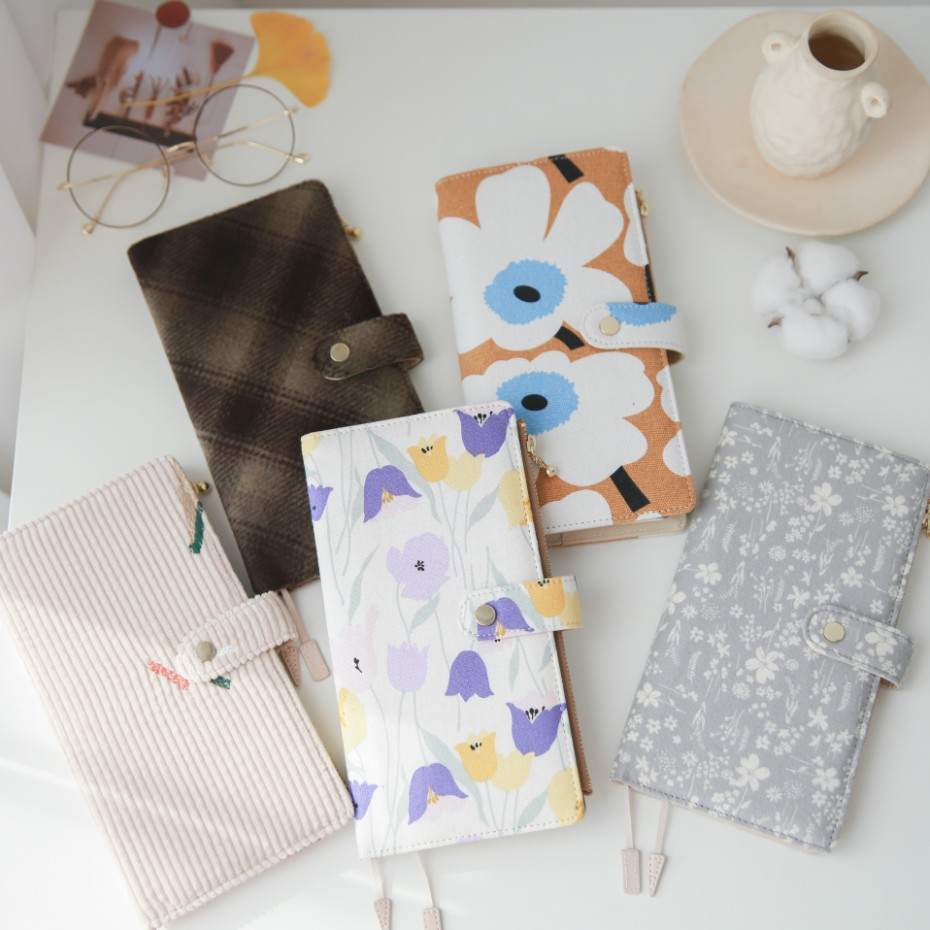 Lovely Floral Portable Weekly Planner DIY Undated Week Plan Book Suit For Standard Hobo Mega Insert Book 2020 New Stationery