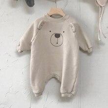 2020 תינוקת Romper תינוק חמוד קריקטורה בגד גוף טיפוס בגדים חמוד קטן בעלי החיים מקרית סוודר תינוקת בגדים