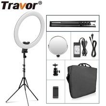 Кольцевой светильник Travor, 20 дюймов, кольцевой светильник для фотографии, 60 Вт, со штативом для YouTube, светодиодный светильник для макияжа, студии, фотографии