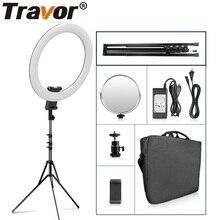 Travor halka ışık 20 inç halka lamba fotoğrafçılığı ringl kısılabilir 60W için tripod ile YouTube makyaj stüdyosu led ışık