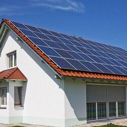 36 V Pin Năng Lượng Mặt Trời 300 W 600 W 1200 W 1800 W 2400 W 3000 W 3KW 220 V 110 V Năng Lượng Mặt Trời Hệ Thống Nhà Nơi Ở Mái Nhà Biệt Thự