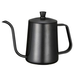 Uchwyt montażowy ze stali nierdzewnej wytłaczany ręcznie garnek dzbanki do kawy z pokrywką kroplówki gęsiej szyi wylewka długie usta kawiarka czajniczek 600 Ml w Dzbanki do kawy od Dom i ogród na