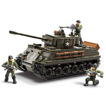 Military series World War II US Army military tank Model Building blocks DIY Soldier Action Figures Toys Gifts 1