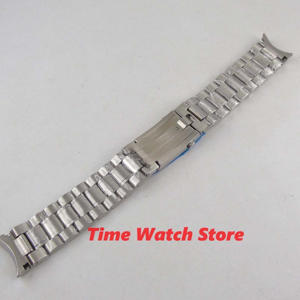 PARNIS 20mm 316L stainless steel watch band watch strap metal bracelet Folding buckle Fit men's watch wristwatches S5