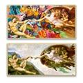 Современное домашнее граффити, абстрактное искусство, настенное украшение, живопись, Классическая масляная живопись, Микеланджело, творче...