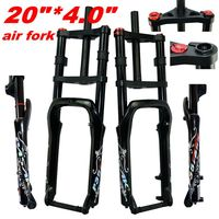 Snow Beach Bike Aluminum Alloy  Shock-absorbing Front Fork Double Shoulder Gas Fork 20 inch Wide Tire 4.0 Off-road Bicycle 135MM