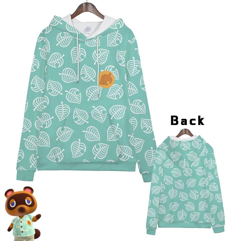 Hot  Anime  Animal Crossing Gaming Cosplay Hoodies Standard Hooded   Winter  Tops Unisex  Funny Sweatshirts