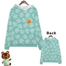 цены Hot  Anime  Animal Crossing Gaming Cosplay Hoodies Standard Hooded   Winter  Tops Unisex  funny Sweatshirts