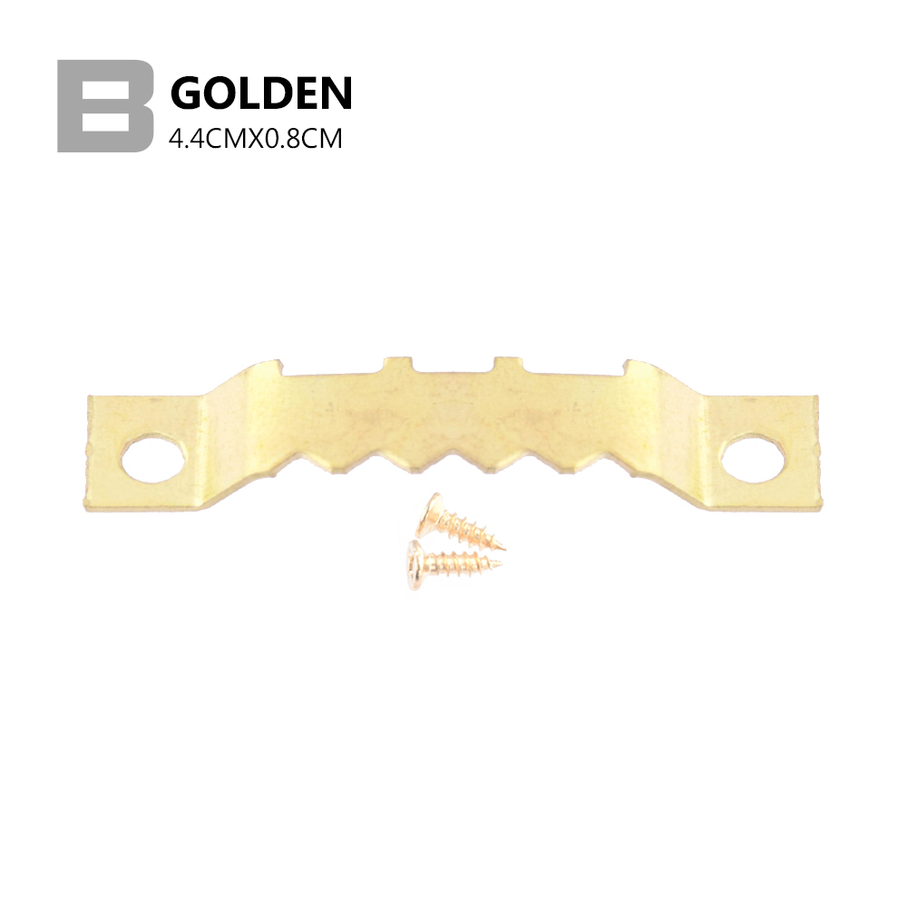 25Pcs Saw Tooth Hangers Golden Hanging Mirror Saw Tooth Tooth Hooks with Screws Canvas Picture Wall Oil Painting Frame Strong 5