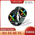 Смарт-часы KW66 часы-браслет для мужчин для женщин Bluetooth 5,0 SmartWatch оригинальный сердечного ритма спортивный фитнес-трекер IP68 Смарт-часы для жен...