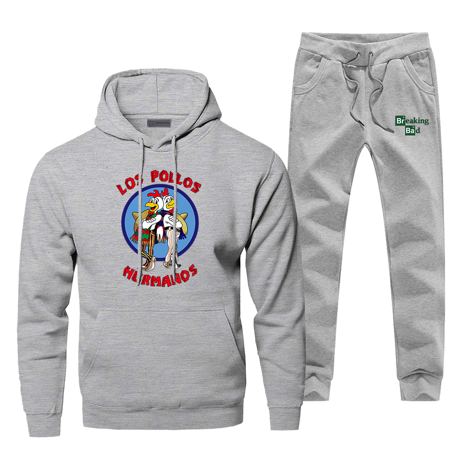 Breaking Bad LOS POLLOS Hermanos Men Hoodies Sweatshirts Pants Sets Hooded Hoodie Suit Tracksuit 2 PCS Hoody Pant Pullover Set