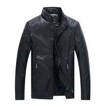 Fall/winter new leather mens pu boutique jacket