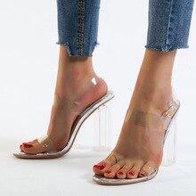 Hot Women Pumps Sexy Transparent Heels F