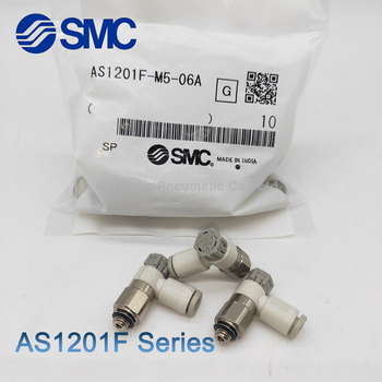 1 pcs SMC Pneumatic Connector AS1201F-M3-04 AS1201F-M5-04A AS1201F-M5-06A Speed Controller with One-touch Fitting Elbow Type brand new japan smc genuine speed controller as1201 m5 f04