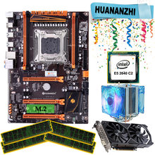 HUANANZHI X79 deluxe gaming motherboard set mit kühler E5 2640 RAM 64G DDR3 1333MHz RECC GTX1050ti 4G DDR5 video karte(China)