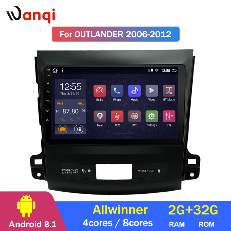 4 cores or 8 cores 9 inch Android 8.1 car multimedia system For Mitsubishi Outlander 2006-2012 gps navigation support RDS
