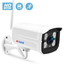 BESDER 알루미늄 금속 케이스 보안 비디오 IP 카메라 무선 1080P P2P RTSP 크롬 인터페이스 CCTV 카메라 IP 와이파이 SD 카드 슬롯