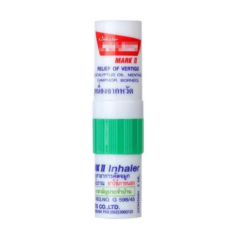 1pcs Thailand Herbal Nasal Inhaler Stick Mint Cylinder Essential Oil Nasal InhalerAsthma Refreshing Aroma  Oil Stick