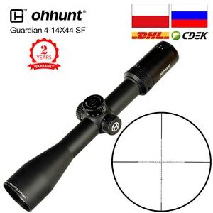 Image 1 - Ohhunt koruyucu 4 14X44 SF avcılık tüfek kapsam 30mm tüp yan paralaks taktik Riflescopes ile KillFlash kapak ve montaj halkaları