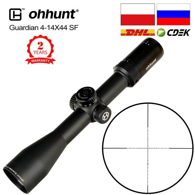 Ohhunt koruyucu 4 14X44 SF avcılık tüfek kapsam 30mm tüp yan paralaks taktik Riflescopes ile KillFlash kapak ve montaj halkaları