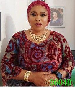 Image 5 - צבעוני קטיפה תחרה בד ניגרי רשת נטו בדי תחרה אפריקאית באיכות הטובה ביותר בד לנשים מסיבת חתונת APW3604B