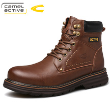 Camel Active New Hot Brand Men Boots Genuine Leather Winter Autumn Shoes Motorcycle Mens Ankle Boots Couple Oxfords Shoes
