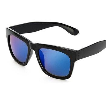 -100 to -400 Myopia prescription sunglasses sauqre sun glasses blue mirror eyewear for women men