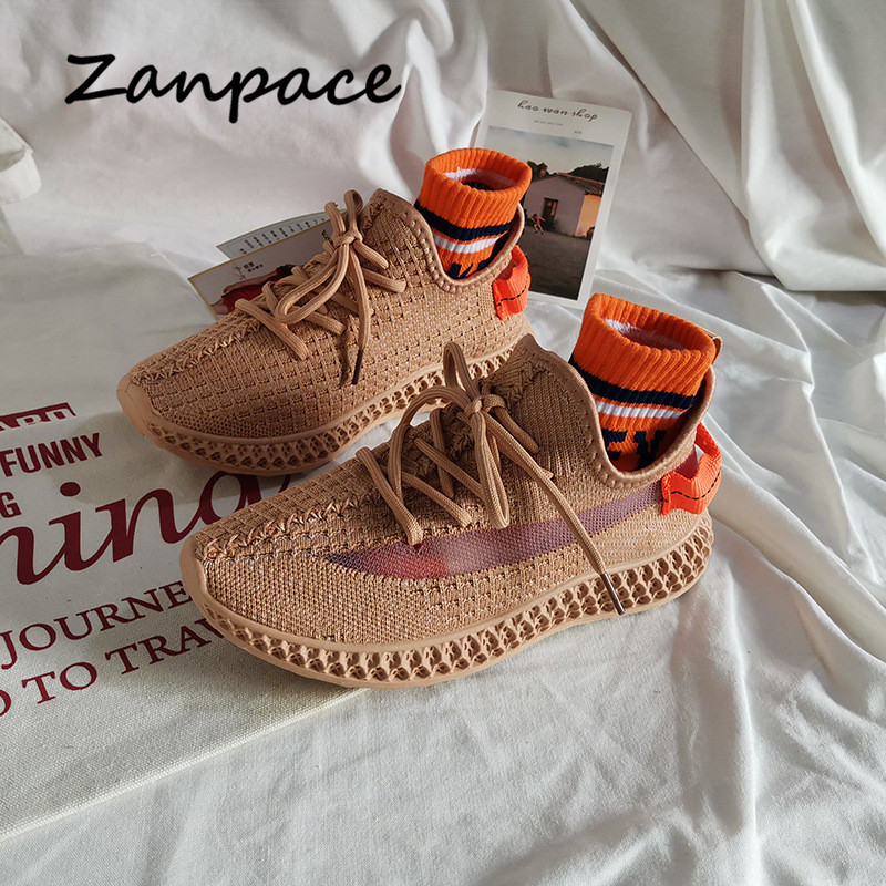 2020 Women Sneakers Casual Breathable Walking Mesh Lace Up Platform Shoes Spring Autumn Shallow Leisure Women Vulcanize Shoes