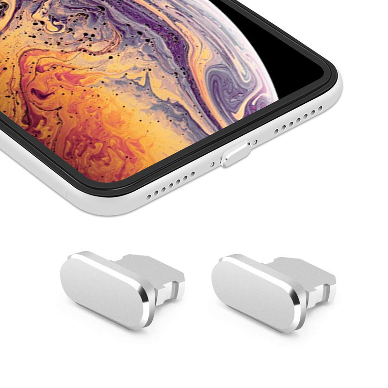 Colorful Metal Anti Dust Charger Dock Plug Stopper Cap Cover for iPhone X XR Max 8 7 6S Plus Mobile Phone Accessories freeing