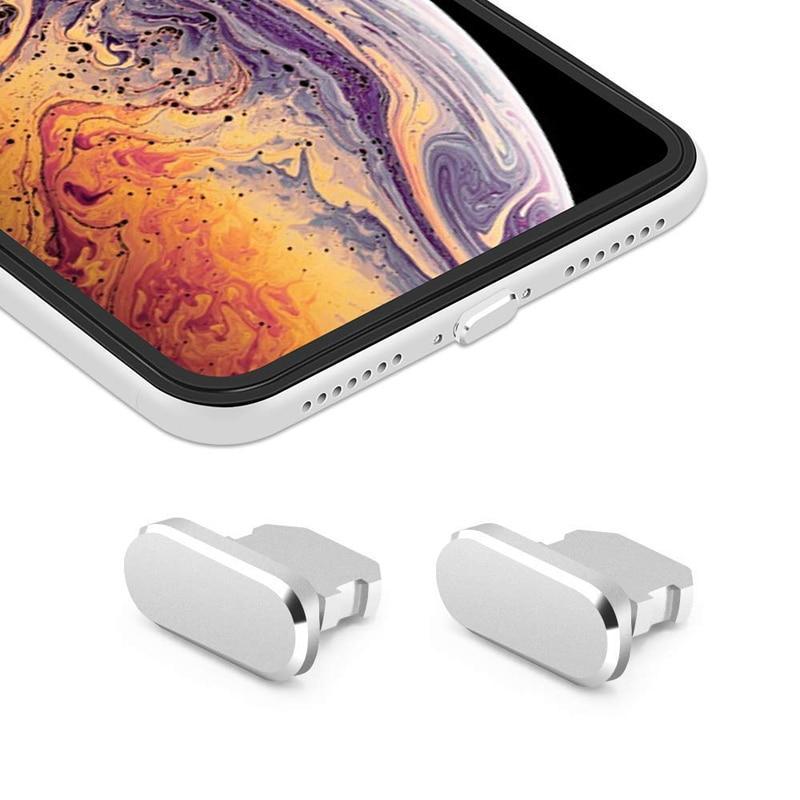 Цветная металлическая противопылевая заглушка для зарядного устройства для iPhone X XR Max 8 7 6S Plus