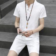 Мужской летний спортивный костюм для бега модная Винтажная футболка