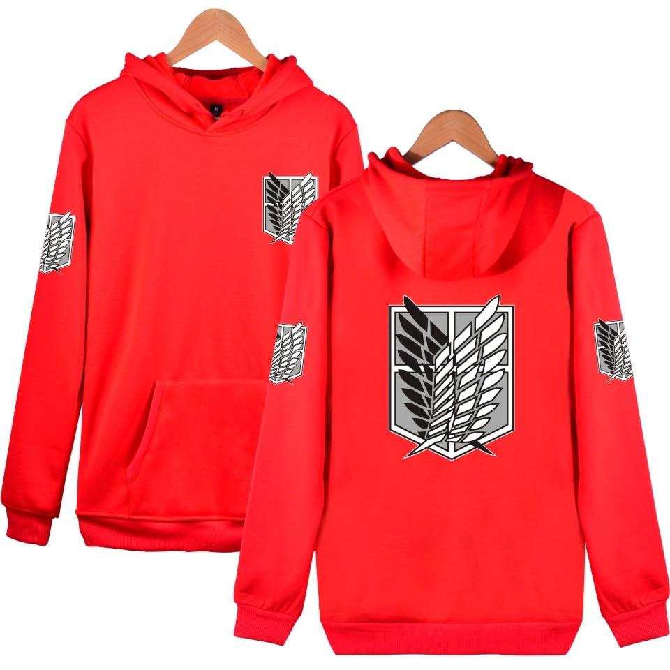 2021 3d Косплей Аниме Стиль атакующий гигант мужские и женские толстовки хип-хоп Харадзюку 6 цветов Высокое качество Свитшот пуловер