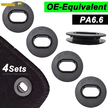 Car Floor Mat Fastener Clips Carpet Oval Clamps For VW Golf GTI Seat Leon MK1 Skoda Octavia Fabia OE 3D0864851B41 3D0061795B41 image