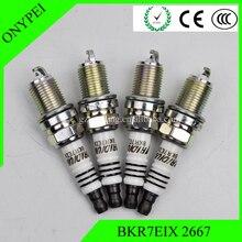 4pcs BKR7EIX 2667 Iridium Spark Plug For Polaris Porsche BMW Honda Volvo BKR7EIX-2667