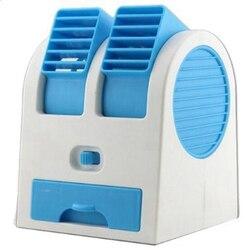 Nowe przenośne mini usb klimatyzator wentylator chłodnicy akumulator na zewnątrz pulpit w Wentylatory od AGD na