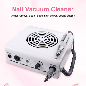 80W 2-in-1Manicure Machine Nail Drill Dust Collector With Adjustable Speed Handle Powerful FAN Art Salon Tool - discount item  30% OFF Nail Art & Tools