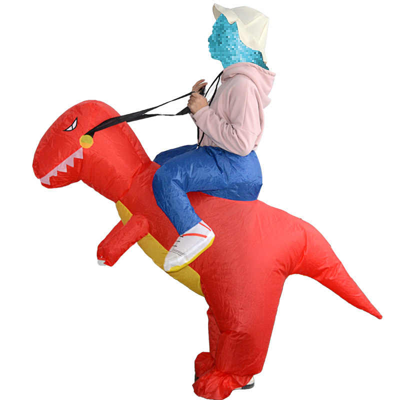 Jeździć na kostium dinozaurów nadmuchiwane wysadzić kostium Fancy Cosplay na imprezie z okazji Halloween TY53