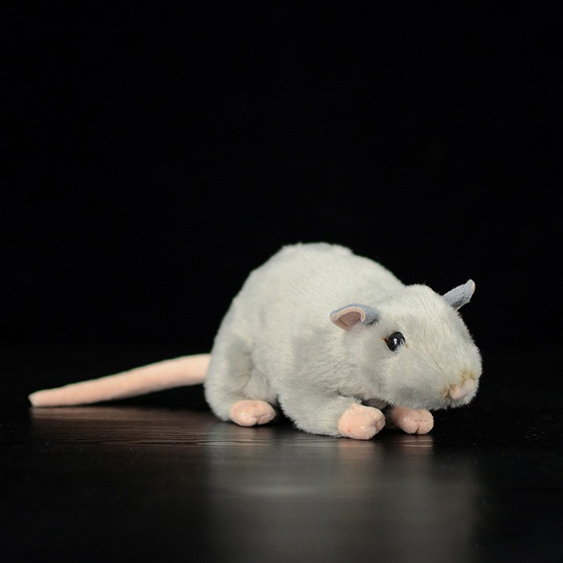 Extra Soft Real Life Mini Gray White Rats Mouse Plush Toy Lifelike Mice Stuffed Animals Toys Birthday Christmas Gifts