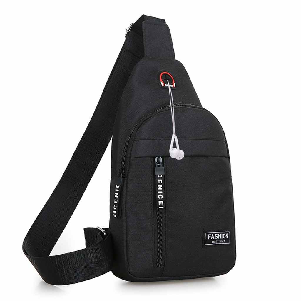New Men Women Nylon Waist Packs Sling Bags Crossbody Outdoor Sport Shoulder Chest Daily Picnic Canvas Messenger Pack Bag Bolsa