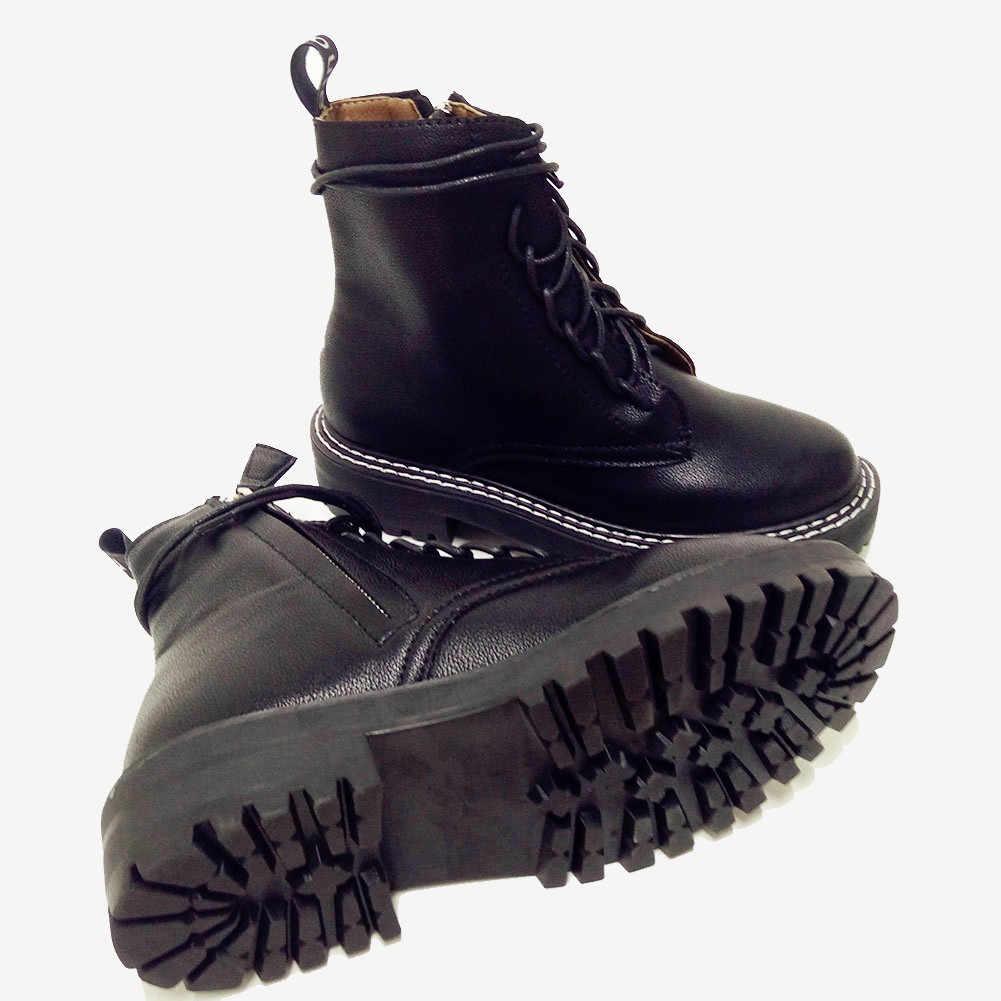 Doratasia 2020 büyük boy 43 Moda Martin Çizmeler marka tasarım yarım çizmeler Kadın Ayakkabı ayakkabı bağı serin Ayakkabı Kadın Çizmeler kadın