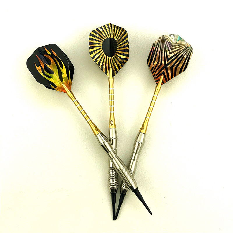 3 Piece Set / Set Of Professional Soft Tip Darts Yellow Darts Outdoor Entertainment Darts