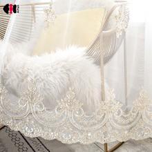 Роскошные тюлевые шторы с вышивкой для гостиной цветочной элегантные