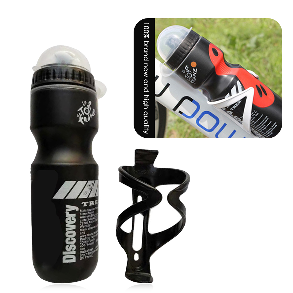 Bicycle Cycling Drink Bottle With Holder Cage Outdoor  Water Bottle Plastic