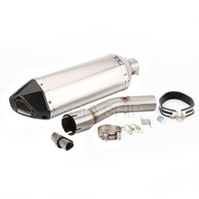 FZ 1 Motorcycle Akrapovic Exhaust Muffler With Link Pipe Full System Motorcycle For Yamaha FZ1 FAZER FZ1 Escape Slip-on стоимость