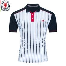 Fredd Marshall 2020 Nieuwe Mode Gestreepte Polo Shirt Mannen Merk Kleding Casual Korte Mouw Patchwork Polo Shirts 100% Katoen 059
