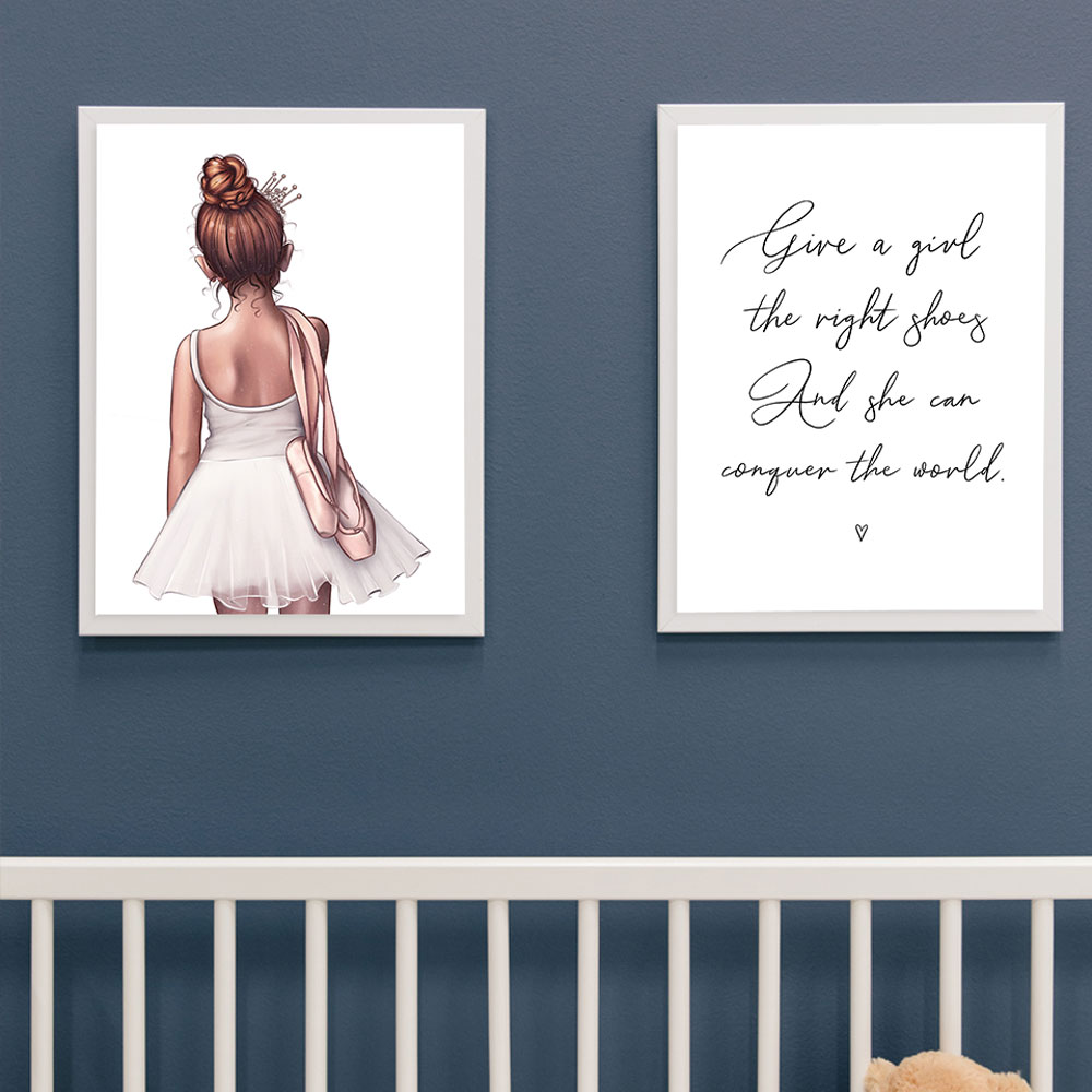 Be The Girl On The Right Ballet Poster