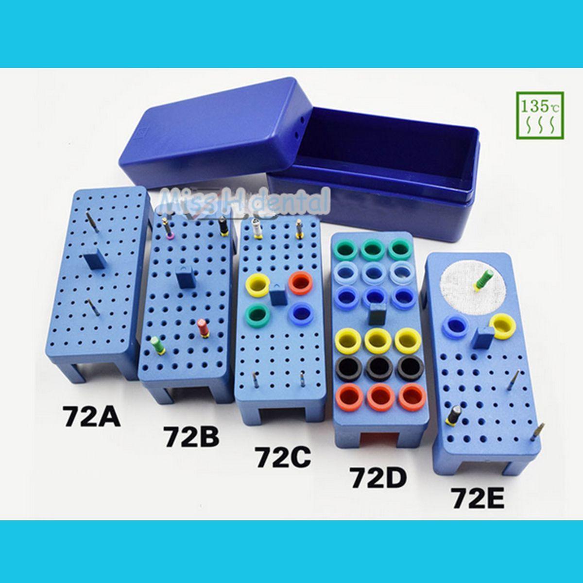 Dental Sterilize Plastic 72H Endo Box For Diamond Burs Reamer/Gutta Percha Point