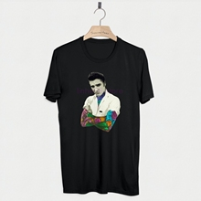 Shirt T Elvis Inked Tattoo Presley Rock Top Tee King Roll Music Jesus Retro