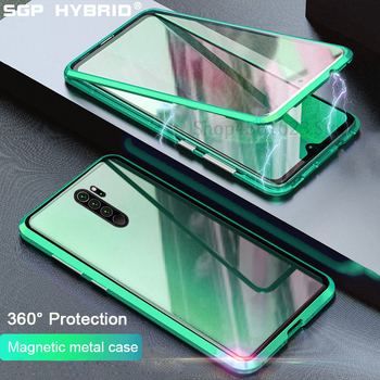 New Magnetic Cases For Xiaomi Redmi Note 8 8t 9 9s Note8 T Pro Max 8A K30 K20 Pro Case Double Side Glass Bumper Back Cover Shell